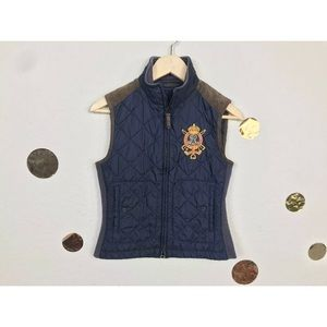 Ralph Lauren Youth Girl Vest Quilted Full Zip Sz S